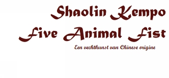 Shaolin Kempo Five Animal Fist